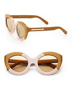 Karen Walker Flowerpatch 50MM Modified Cat's-Eye Sunglasses
