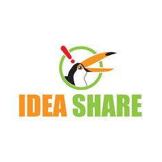 さまざまなビジネスアイデアのお題で発想力を鍛えるサイト、アイデアシェアのロゴマーク。 中の人か