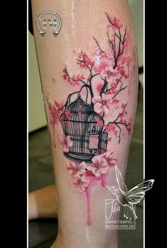 Image result for cherry blossom wreath tattoo