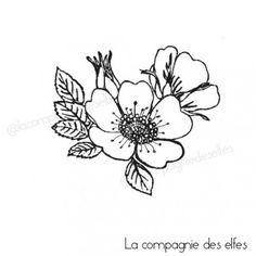 Tampon églantine, la compagnie des elfes. #wildflowers #eglantine #rubberstamp #lacompagniedeselfes