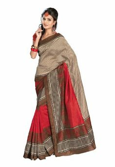 Fabdeal Indian Designer Bhagalpuri Silk Red Printed Saree Fabdeal, http://www.amazon.de/dp/B00INWISRY/ref=cm_sw_r_pi_dp_J-6otb0DGXKR3