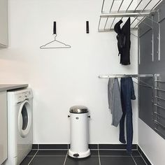 Laundry design ideas with drying room that you must try 27 Small Laundry Rooms, Laundry Closet, Laundry Room Organization, Laundry Storage, Closet Storage, Storage Shelves, Ikea Laundry, Storage Room, Bathroom Storage