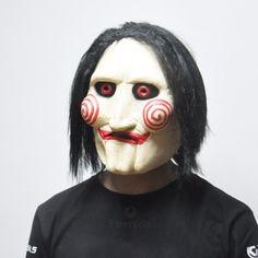 #Scary Saw Masks Horror Adult Latex Jigsaw Mask Party #mask #HalloweenMasks