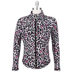 Christine Alexander Leopard Print Stretch Jacket #VonMaur #ChristineAlexander #Jacket #LeopardPrint