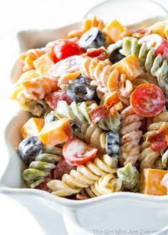 Bacon Ranch Pasta Salad Recipe on Yummly. @yummly #recipe