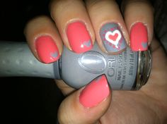 Cute Hearts Nail Design!