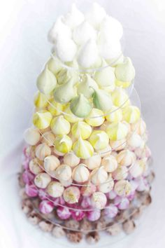 "Pastel meringues from Meringue Girls.  For more Alternative Wedding inspiration, check out the No Ordinary Wedding article ""20 Quirky Alternatives to the Traditional Wedding""  http://www.noordinarywedding.com/inspiration/20-quirky-alternatives-traditional-wedding-part-2"