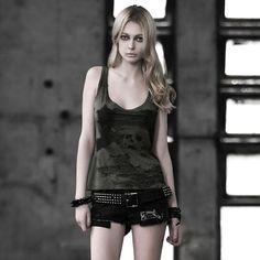 T-349 Gothic Digital Printing Sleeveless T-shirt