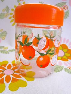 Vintage Marmalade jar from France. Perfect for serving your marmalade. Vintage 70s, Vintage Prints, French Vintage, Bloom Where You Are Planted, Marmalade, Fabric Wallpaper, Printing On Fabric, Fabrics, Wallpapers
