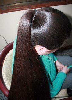 Long Hair Ponytail, Bun Hairstyles For Long Hair, Indian Hairstyles, Long Black Hair, Long Hair Cuts, Beautiful Long Hair, Gorgeous Hair, Hair Up Styles, Hair Creations