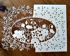 Birthday Paper Cutting - in progress by all things paper, via Flickr