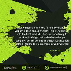 We thank you for appreciating our work #Kindwords Visit us: designvation.com #appreciation #thx #DesignVation