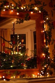 Love boughs around frames and the house takes on the smell :)