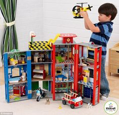 Not just for girls: KidKraft® Everyday Heroes Wooden Police & Fire Playset, recently available at Costco, is a step forward in accepting that boys are also interested in role-playing with a dollhouse