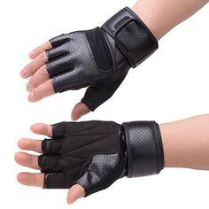 Vbiger Extremely Long Wristguard Half-Finger Sunproof Gloves for Riding Bike,Motorcycle in Black