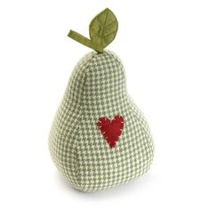 doorstop fabric pear houndstooth green heart urbanhome.es