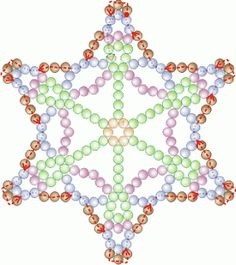 Free Bead Patterns and Ideas by Sandra D Halpenny : Snowflake #34 Ornament pattern