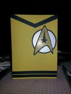 Star Trek inspired card for Dad's Birthday.