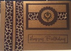 Animal Print Card / RellB The Craftree