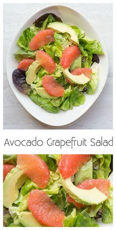 I love this recipe for Avocado Grapefruit salad. So fresh and simple!