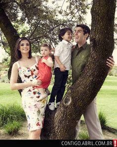 Kaká com a mulher, Carol Celico, e os filhos, Luca e Isabella