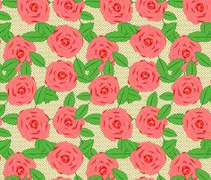Spotty Rose fabric by lydia_meiying on Spoonflower - custom fabric