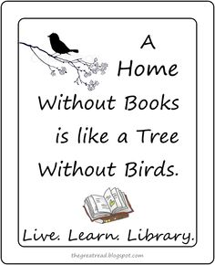A Home Without Books via the great read blog