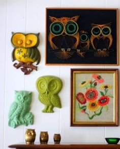 Vintage owls <3 I want them all!