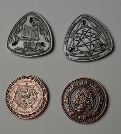 Gold Fantasy Coins for RPG and fun! Game Props, Movie Props, Gold Coins For Sale, Coin Design, Coin Art, Antique Coins, World Coins, Arte Pop, Rare Coins