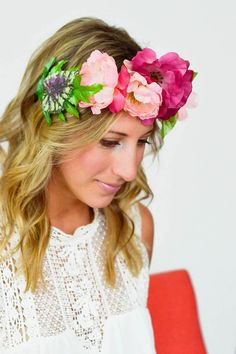 DIY Crown DIY floral crown perfect for your next music festival DIY Crown