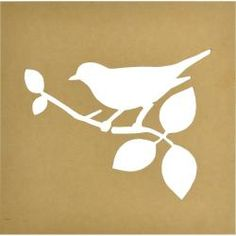 """Beyond The Page MDF Silhouette Wall Art 12""""X12"""" Frame-Bird, 9.5""""X7"""" Cut-Out Opening 