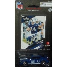 Indianapolis Colts NFL Diecast 2009 Dodge Charger with Dallas Clark Score Trading Card Press Pass Football Team Collectible Car by NFL  $14.89