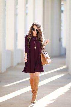 moda casual para el otoño invierno 2017 - Page 62 of 81 - fashion-style. Women's Fashion Dresses, Casual Dresses, Casual Outfits, Cute Outfits, Fall Dresses, Cheap Dresses, Womens Fashion For Work, Look Fashion, Fall Fashion