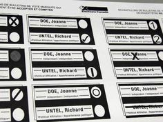 Sample ballots from Elections Canada in a file photo