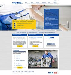 Website for Technov s., producer of air distribution and air conditioning systems. Web Design, Air Conditioning System, Conditioner, Website, Technology, Design Web, Website Designs, Site Design