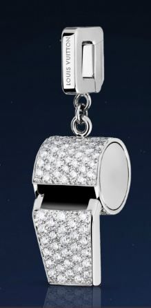 Louis Vuitton Whistle charm in white gold with diamonds