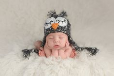 Newborn Baby Boy Wearing an Owl Hat royalty-free stock photo Baby Boy Nursery Themes, Baby Boy Nurseries, Newborn Poses, Baby Boy Newborn, Newborns, Baby Quiz, Quizzes For Fun, Black And White Owl, Newborn Photography Tips