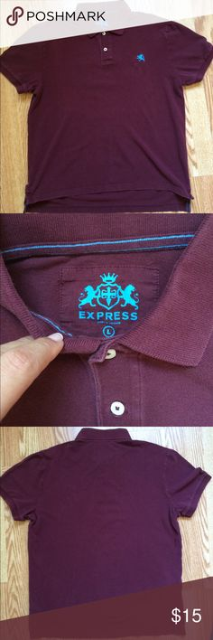 Express polo shirt Men's Express polo shirt in a maroon/burgundy. It's in good condition. Express Shirts Polos