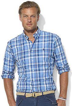 Mens Polo Ralph Lauren Plaid Cotton Shirt   $50.99 (43% Discount)