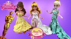 OSCARS Inspired Magiclip Disney Princess Dresses Red Carpet Fashions Elsa Belle Aurora by Mytubepm