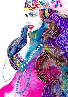 Fashion Illustration Print   HAIR by studiodelafosse on Etsy, €15.00