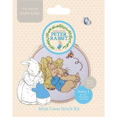 Peter Rabbit Blue Mini Cross Stitch 10.2 x 10.2 cm