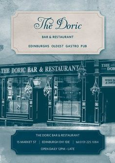Reserve a table at The Doric, Edinburgh on TripAdvisor: See 1,168 unbiased reviews of The Doric, rated 4.5 of 5 on TripAdvisor and ranked #133 of 2,446 restaurants in Edinburgh.