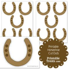 Printable Brown Horseshoe Cut Outs