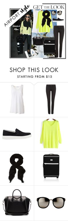 """""""Get the Look: Airport Style"""" by easy-dressing ❤ liked on Polyvore featuring T By Alexander Wang, Levi's, Prada Sport, Givenchy and Linda Farrow"""