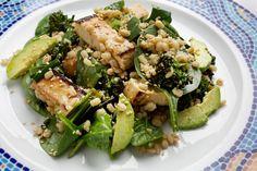Barley, Tofu and Spinach Salad With Miso Dressing - Washington Post 1/1/14