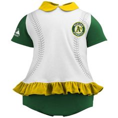 Majestic Oakland Athletics Newborn Girls Tri-Color Ruffled 2-Piece Set. How awesome is this!!!!!!