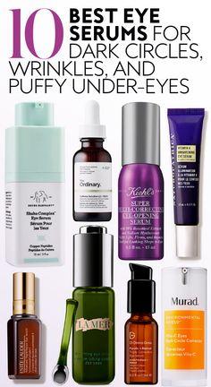 Skin Secrets, Skin Tips, Beauty Secrets, Beauty Care, Beauty Skin, Health And Beauty, Best Eye Serum, Eye Vitamins, Les Rides