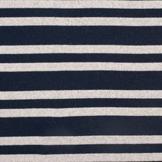 Navy/Off-White Striped Thick Cotton jersey Fabric by the Yard   Mood Fabrics