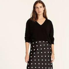 Women's New Arrivals | J.Crew Fall Looks, Sweater Outfits, J Crew, Organic Cotton, Cashmere, Sweaters For Women, V Neck, Pullover, Clothes For Women